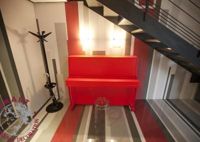 """Decorazione pianoforte per """"Cambio casa, cambio vita"""""""
