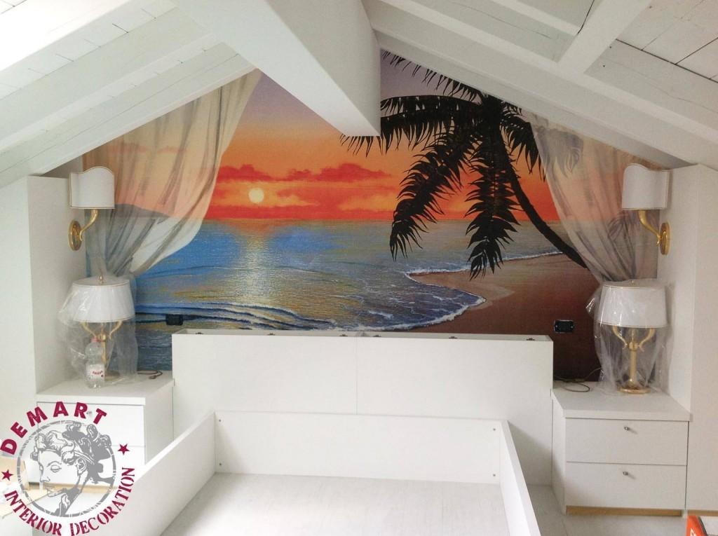 """Decorazione attico, tema """"paesaggi calabresi"""""""